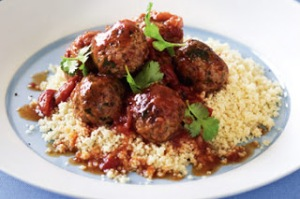 Moroccan meatballs and couscous